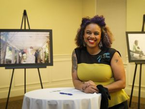 Tashmica Torok at the Soulfire 2015 Gallery Reveal. Photo credit to Matthew Dae Smith for the Lansing State Journal